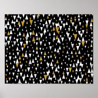 abstrakte dreiecke poster. Black Bedroom Furniture Sets. Home Design Ideas