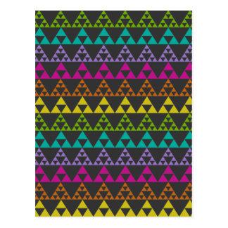 Dreieck-Muster Postkarte