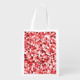 Dreieck-Muster-rote rosa Töne Wiederverwendbare Einkaufstasche