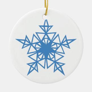 Dreieck-Schneeflocke Keramik Ornament