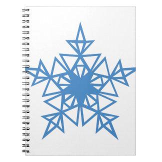 Dreieck-Schneeflocke Spiral Notizblock