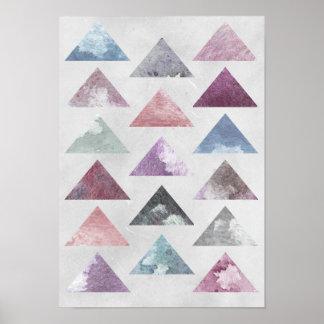 Dreieck-Wand-Kunst Poster