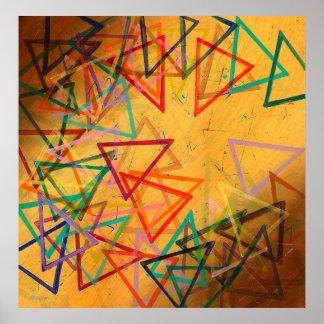 Dreiecke, abstrakt, geometrisch - poster