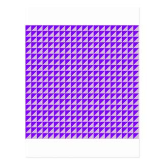 Dreiecke - Distel und Veilchen Postkarte
