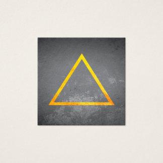 Dreiecke/goldene Beschaffenheit/Schiefer Quadratische Visitenkarte