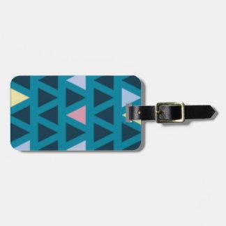Dreiecke mit blauer und rosa Liebe Kofferanhänger