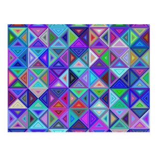 Dreieckfliesenmosaik Postkarte
