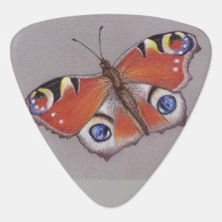 Dreieckiges Plektrum mit Pfau-Schmetterling