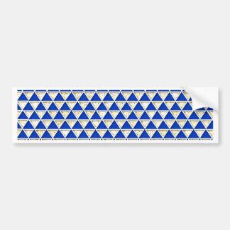 Dreieckmarine-Weißmuster des eleganten Chic Auto Sticker