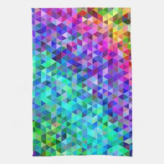 Dreieckmosaikregenbogen Handtuch