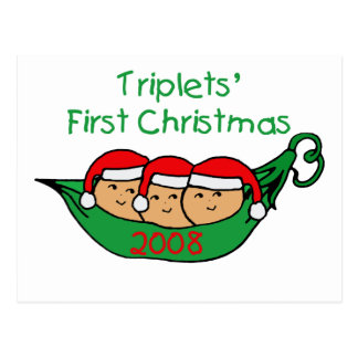 Dreiergruppe-erstes Weihnachten - Hülse 2008 Postkarte