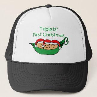 Dreiergruppe-erstes Weihnachten - Hülse (kein Truckerkappe