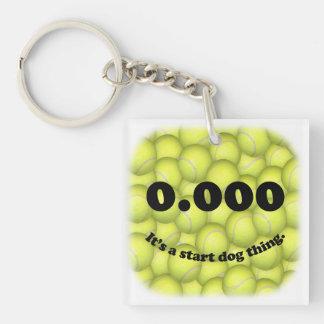 Dreiergruppe null, 0,000 Flyball quadratisches Schlüsselanhänger