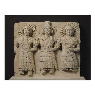 Dreiergruppe Palmyrene Götter, von der Postkarte