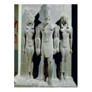 Dreiergruppe von Menkaure mit der Göttin Hathor Postkarte