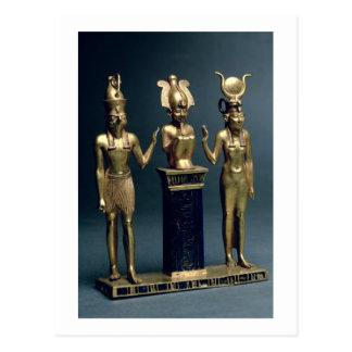 Dreiergruppe von Osorkon II: Osiris grenzte durch Postkarte