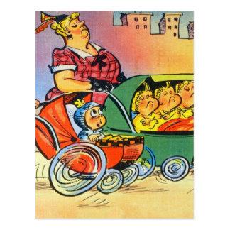 Dreiergruppen, ein Baby u. die Mütter Postkarte