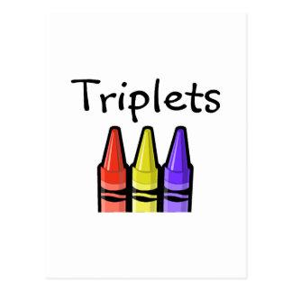 Dreiergruppen (Zeichenstifte) Postkarte