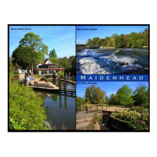 Dreifache Ansichtpostkarte von Maidenhead Postkarte