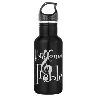 Dreifache dunkle Wasser-Flasche Trinkflasche