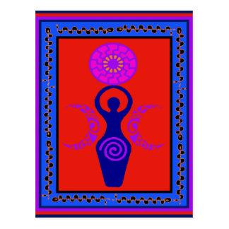 Dreifache Göttin Postkarte