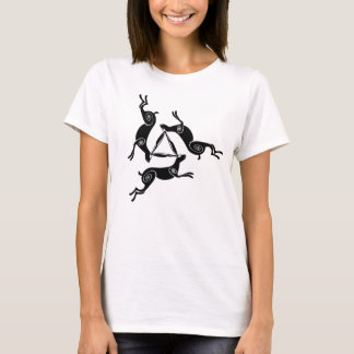 Dreifache Hasen Triskele Damen-helles T-Stück T-Shirt