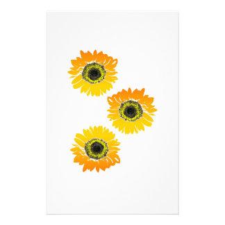 Dreifache Sonnenblumen Briefpapier