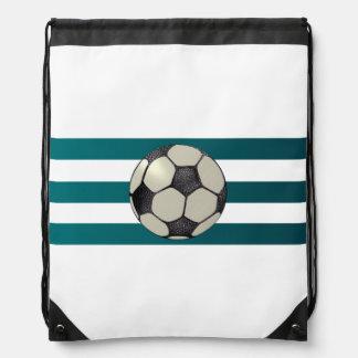Dreifacher blauer Streifen-Fußball-Rucksack Turnbeutel