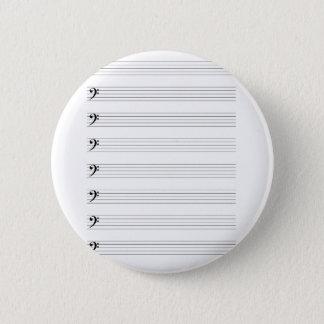 Dreifacher Clef-Dauben Runder Button 5,7 Cm