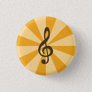 Dreifacher Clef-Knopf Runder Button 3,2 Cm