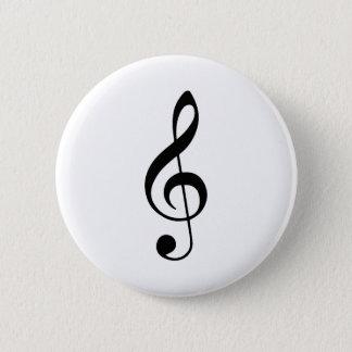 Dreifacher Clef-Knopf Runder Button 5,1 Cm