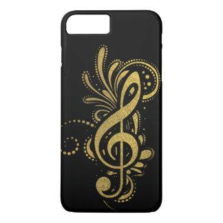 Dreifacher Clef mit dekorativer Goldverzierung iPhone 8 Plus/7 Plus Hülle