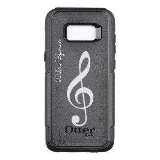 dreifacher Clef, personalisierte Musik OtterBox Commuter Samsung Galaxy S8+ Hülle