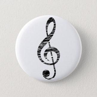 dreifacher Clef Runder Button 5,1 Cm