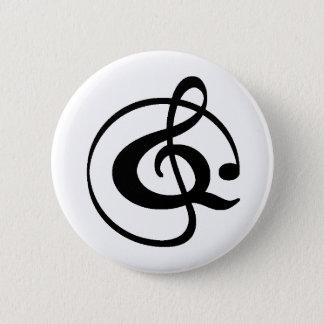 Dreifacher Clef Runder Button 5,7 Cm