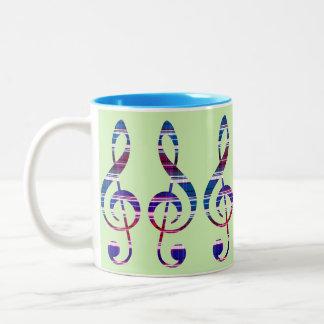 Dreifacher Clef Zweifarbige Tasse