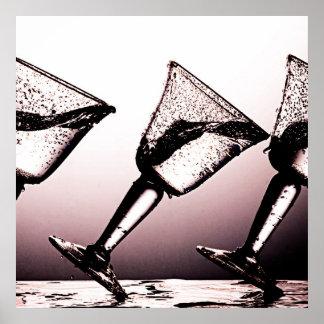 Dreifacher Cocktail-Fleck 3 Plakate