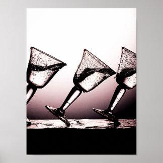 Dreifacher Cocktail-Fleck 3 Plakatdruck