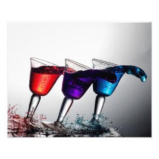 Dreifacher Cocktail-Fleck