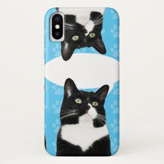 Dreifacher niedlicher Kitty iPhone X Hülle