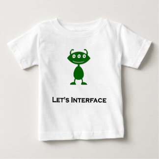 Dreifaches Auge lässt Schnittstelle grünen Baby T-shirt