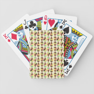 dreifaches Eiscrememuster Bicycle Spielkarten