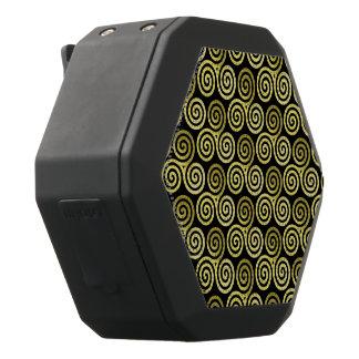 Dreifaches gewundenes Goldmuster Schwarze Bluetooth Lautsprecher