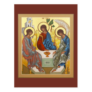 Dreifaltigkeit-Gebets-Karte Postkarte