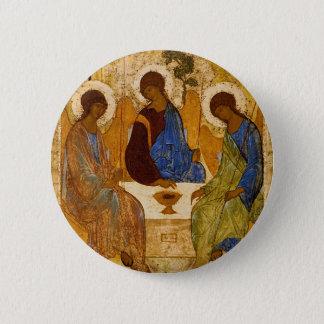 Dreifaltigkeit-Ikone Rublev byzantinisches Runder Button 5,7 Cm