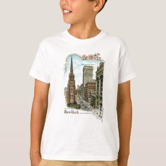 Dreifaltigkeitskirche. New York, unteres Broadway T-Shirt