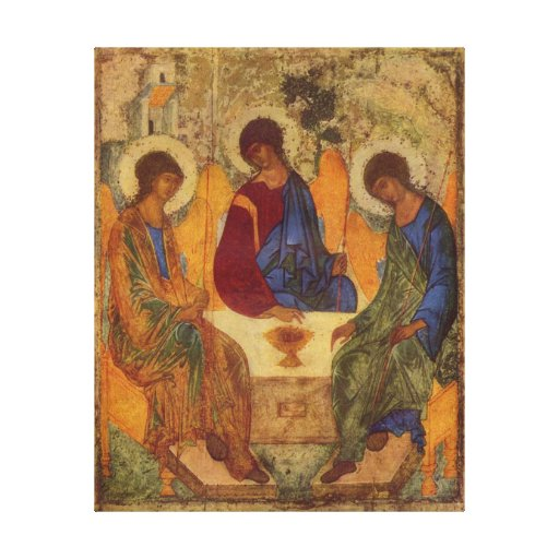 Dreiheits-Engel bei Mamre Galerie Faltleinwand