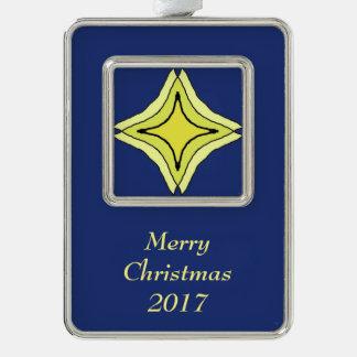Dreiheits-Stern Rahmen-Ornament Silber