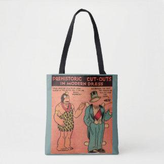 Dreißigerjahre Comic-Höhlenmann-Papierpuppe König Tasche