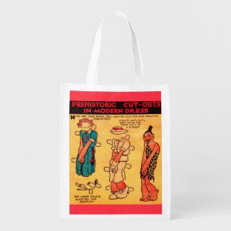 Dreißigerjahre Comicstreifenpapier-Puppe Wiederverwendbare Einkaufstasche